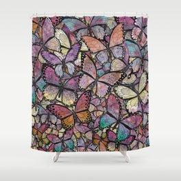 butterflies aflutter rosy pastels version Shower Curtain