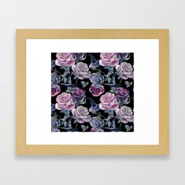 Dark flowers Framed Art Print