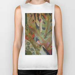 Exotic abstract patterns of nature Biker Tank