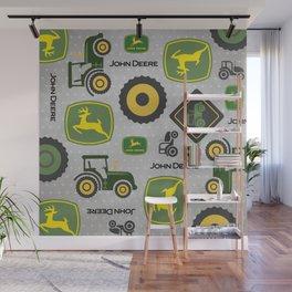 Farm Tractor - Green Wall Mural