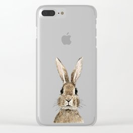 cute innocent rabbit Clear iPhone Case