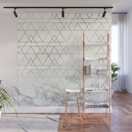 Gold Geometric Marble Deco Design Wall Mural