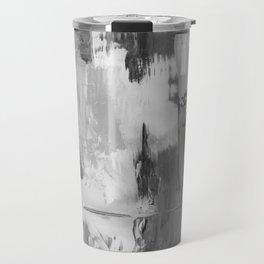 Paint (Black and White) Travel Mug