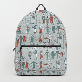 vintage ski linen Backpack