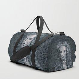 Gravity / Vintage portrait of Sir Isaac Newton Duffle Bag