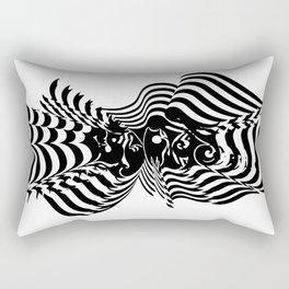 Psycho wave clear Rectangular Pillow