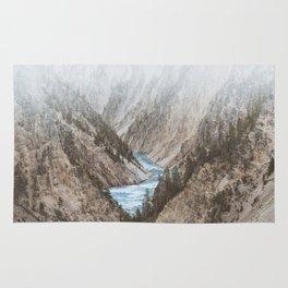 Mountain blue river Rug