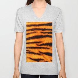 Tiger Print Unisex V-Neck