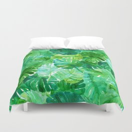 Welcome to the Jungle Palm Duvet Cover