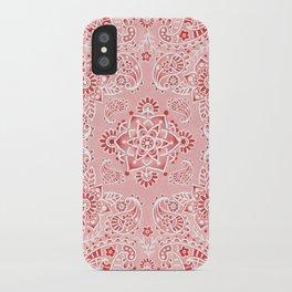 Pink Paisley Bandana iPhone Case
