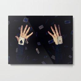 aces in sleeve Metal Print