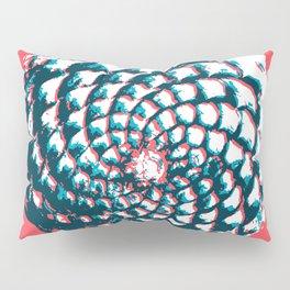 pine cone pattern in coral, aqua and indigo Pillow Sham