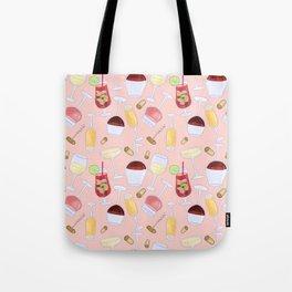 Happy Wine Pattern Tote Bag
