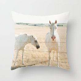 Sans Cowboys Throw Pillow