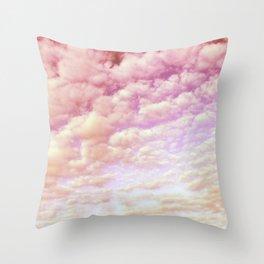 Cotton Candy Sky Throw Pillow