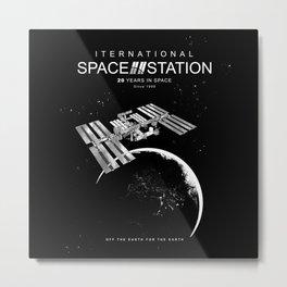 ISS-International Space Station-NSA-ESA-Soyuz-Space Shuttle-Astronomy Metal Print