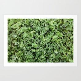 Shredded kale Art Print