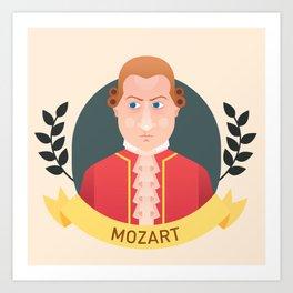 Mozart Art Print