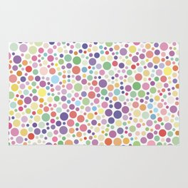 The colorful dot pattern Rug