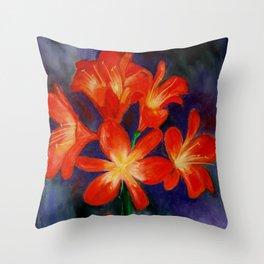 Cheerful clivia Throw Pillow