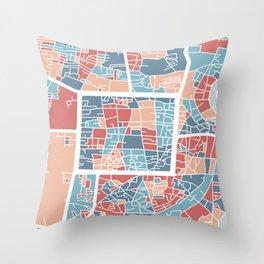 Chiang Mai map Throw Pillow
