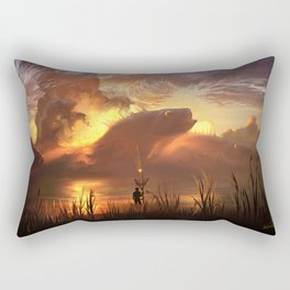 a world ruled by nature Rectangular Pillow