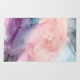 Dark and Pastel Ethereal- Original Fluid Art Painting Rug