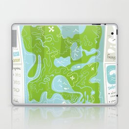 Totally Inaccurate Map of Gifford Pinchot State Park Laptop & iPad Skin