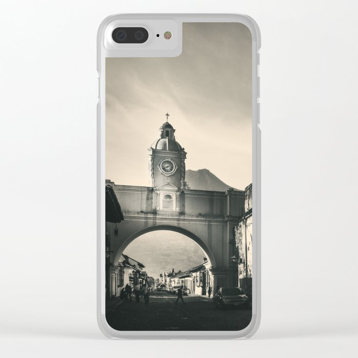 Antique buildings in Antigua, Guatemala Clear iPhone Case
