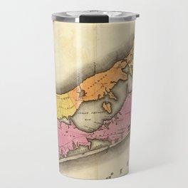 Vintage Map of Suffolk New York (1829) Travel Mug