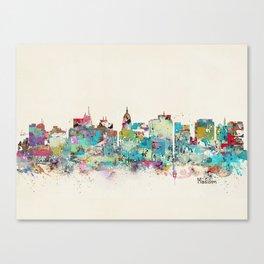 Madison Wisconsin skyline Canvas Print