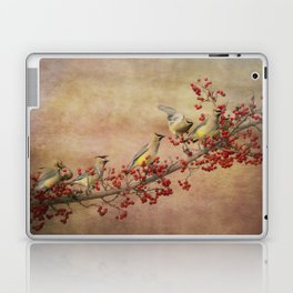 Cedar Waxwings Gathering Laptop & iPad Skin