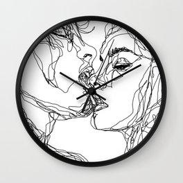 kiss more often (B & W) Wall Clock
