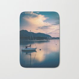 A boat on the river Bath Mat