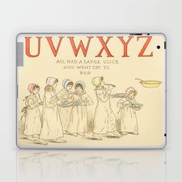 Alphabet - Children in the morning, with letter of Alphabet - Vintage Laptop & iPad Skin