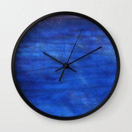 Denim Blue abstract watercolor background Wall Clock