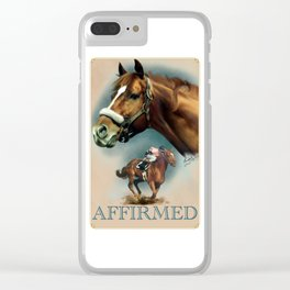 Affirmed with Name Plate Clear iPhone Case