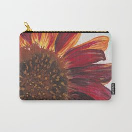 Purple Sunflower Carry-All Pouch