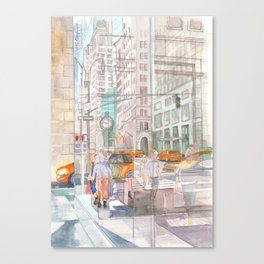 Reflection in the New York City windows II Canvas Print
