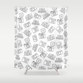 Cameras. Photography lovers Shower Curtain