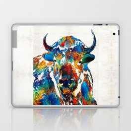 Colorful Buffalo Art - Sacred - By Sharon Cummings Laptop & iPad Skin
