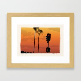 Beach Cop Detectives - 45 - Turn or Straight? Framed Art Print
