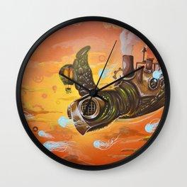 flying  steampunk turtle Wall Clock