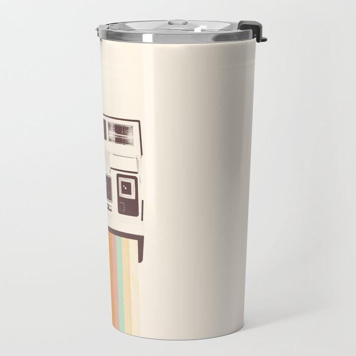 Instant Camera Rainbow Travel Mug