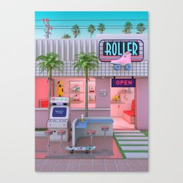 Roller Skate Nostalgia Canvas Print