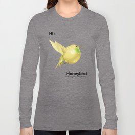 Hh - Honeybird // Half Hummingbird, Half Honeydew Melon Long Sleeve T-shirt