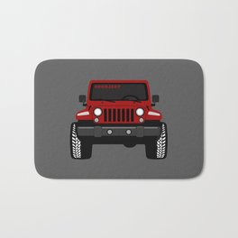 [JEEP] RED + GREY BG Bath Mat