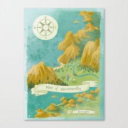 Moominvalley Map Interpretation (1/3) Canvas Print