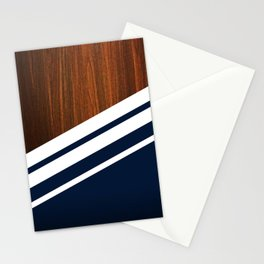 Wooden Navy Stationery Cards