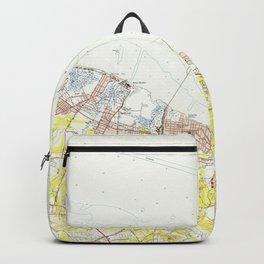 Vintage Map of Sandy Hook NJ (1954) Backpack